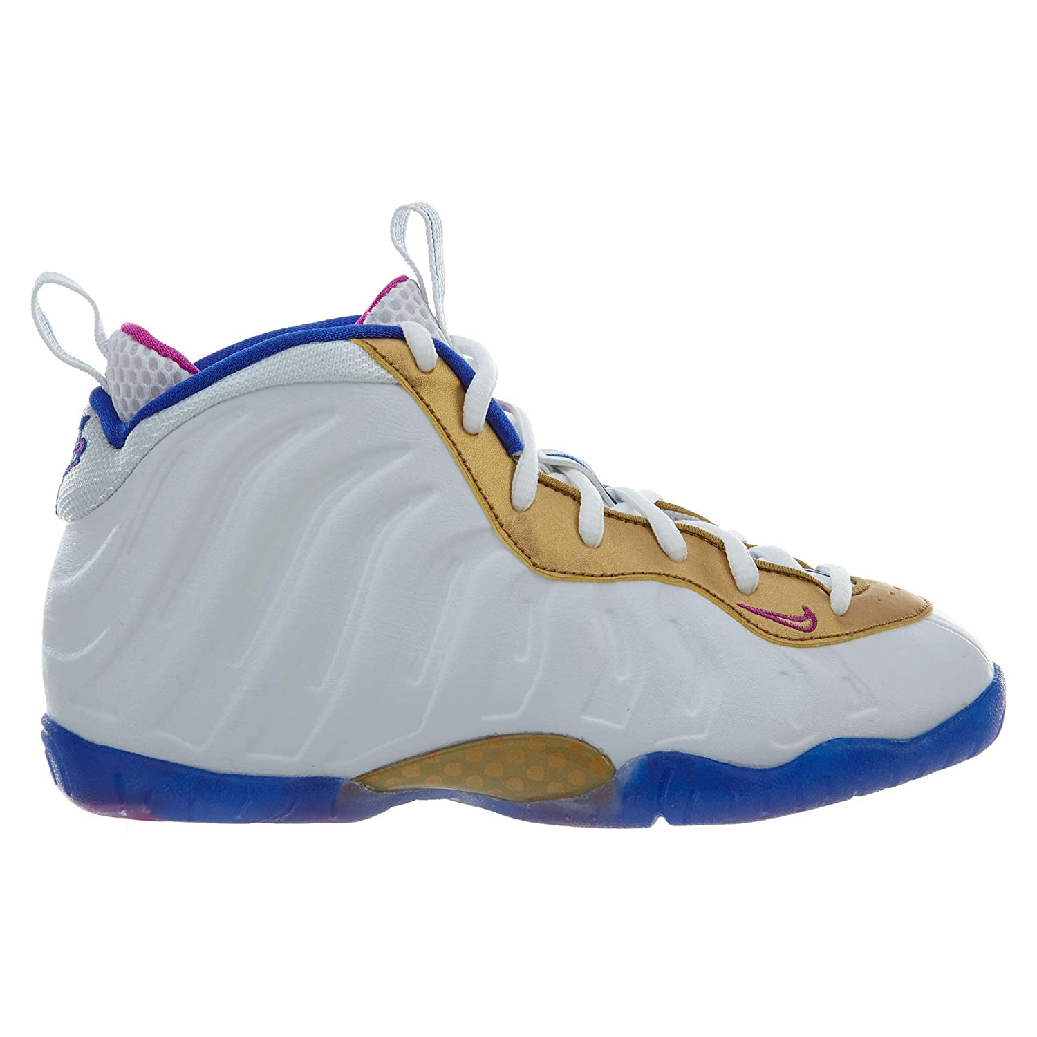 Nike Kids Little Posite One PS White//Fuchsia 723946-103 Size: 2Y