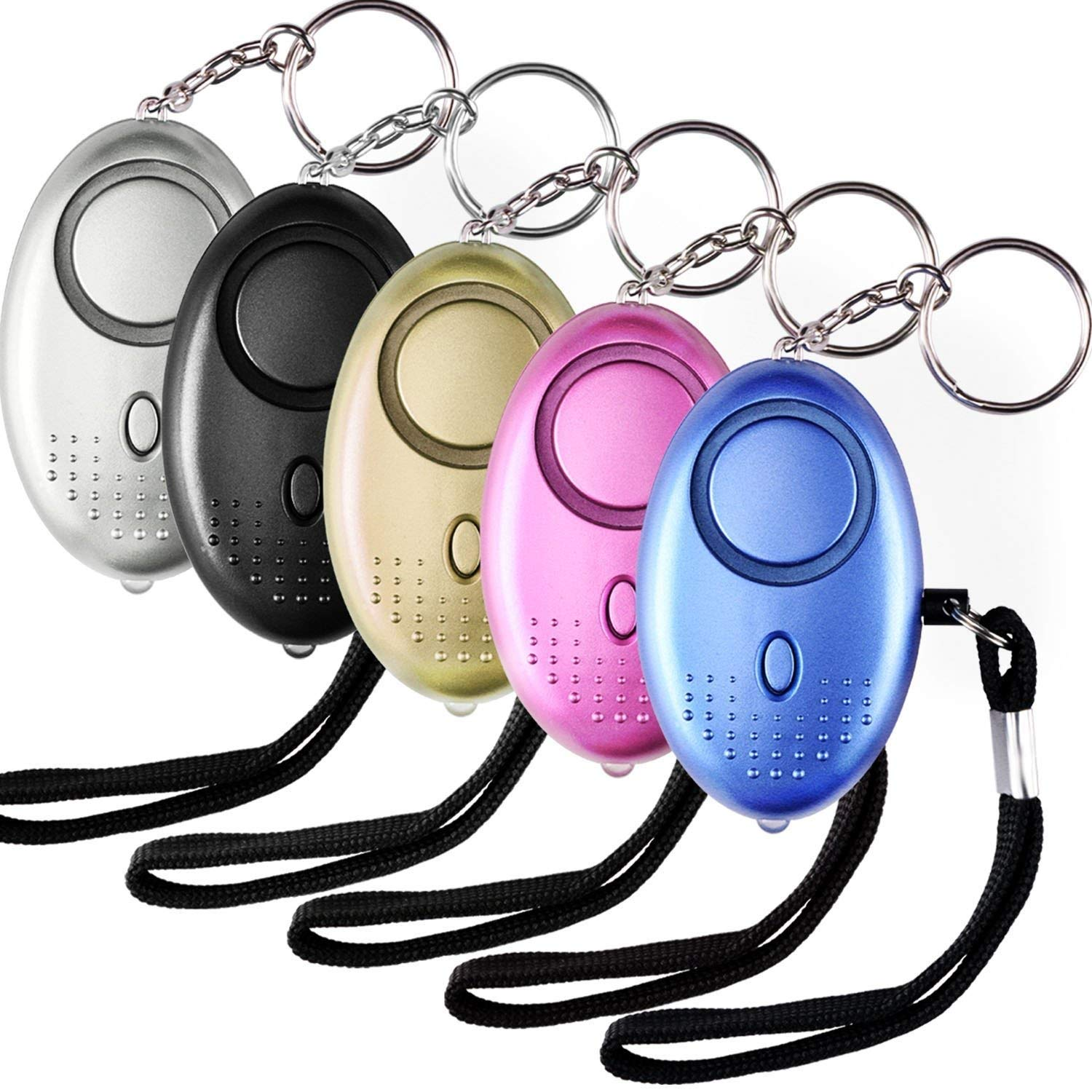 130 dB Loud SOS Emergency Personal Alarm Keychain With Positioning Rape Attack Self-Defense Alarm Keyring Fit for Elderly Kids Women Night Workers