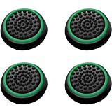 Insten [2 Pair / 4 Pcs] Wireless Controllers Silicone Analog Thumb Grip Stick Cover, Game Remote Joystick Cap for PS4 Dualshock 4/ PS3 Dualshock 3/ PS2 Dualshock/Xbox One/Xbox 360, Black/Green
