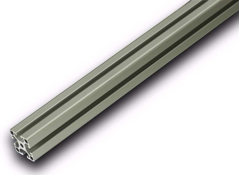 Aluminium Profil mit Nut Eloxiert Alu Schiene Aluprofil 80x40mm 1000mm