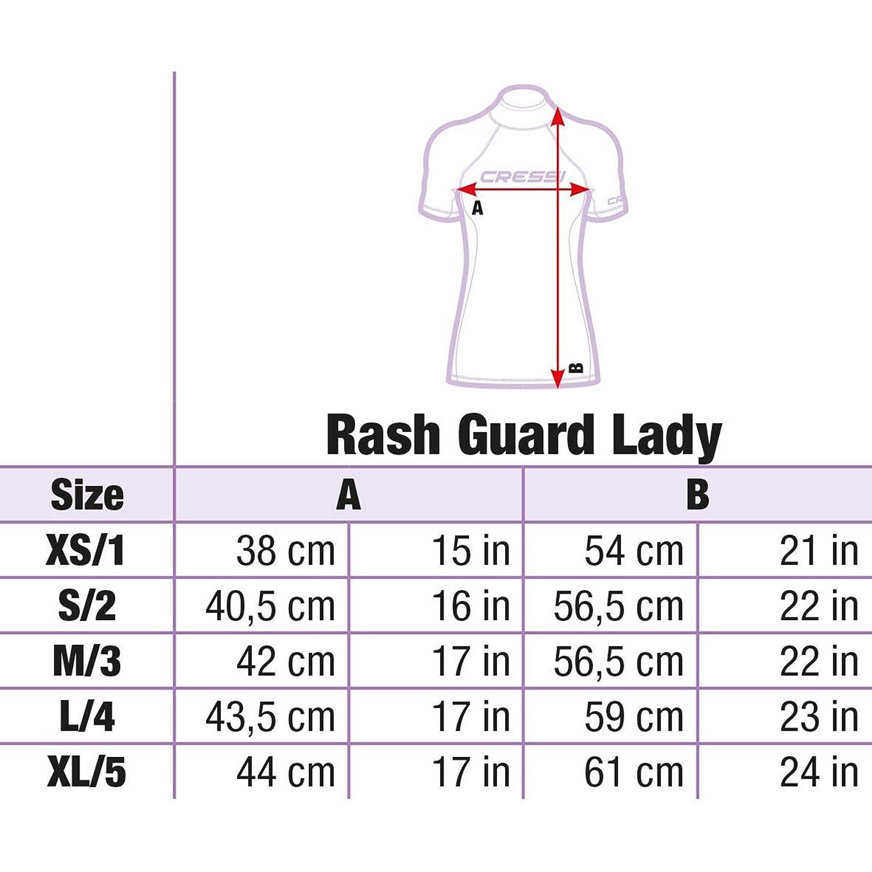 UV-Schutz UPF 50+ Cressi Damen Rash Guard Kurzarm