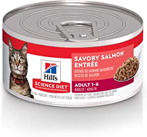 Hill's Science Diet Wet Cat Food, Adult, Savory Salmon, 24-pack