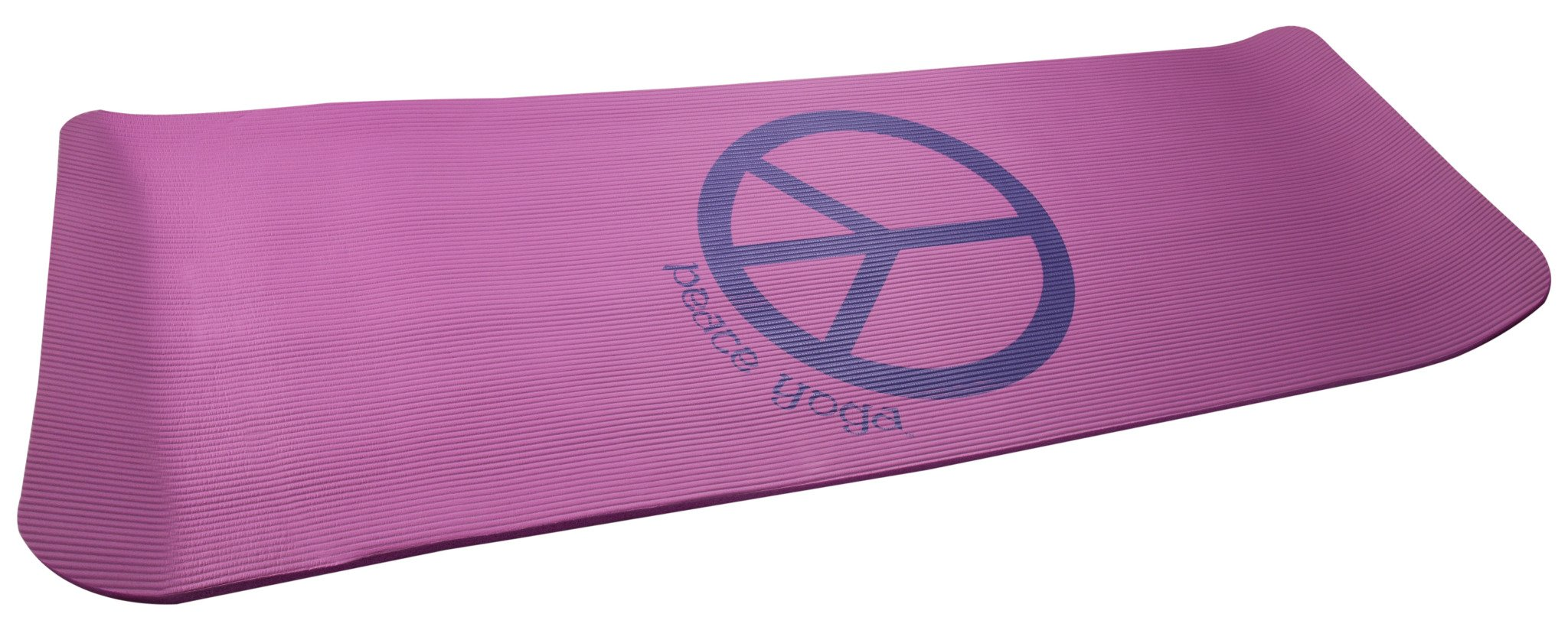 Peace Yoga Extra Thick NBR Exercise Mat - Choose Your Thickness (Pink Hemp, 0.50in Thick)