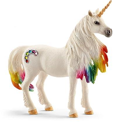 amazon com schleich north america rainbow unicorn mare toy figure