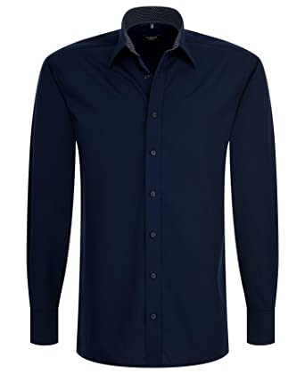 Eterna Herrenhemd Herren Baumwoll Hemd Baumwollhemd Business Freizeit  Langarm Modern Fit Blau: Amazon.de: Bekleidung