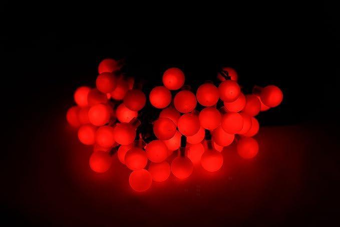 Ghirlanda di luci da 60l led che funziona con luce solare color