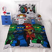 LEGO Ninjago Single Duvet Cover | Officially Licensed Reversible Two Sided Still Castle Action Design with Matching Pillowcase