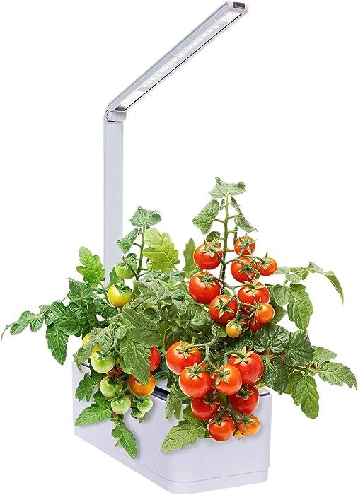 Hydroponic Indoor Herb Garden Kit - Multispectrum LED Desktop Growing Lamp Mindful Design