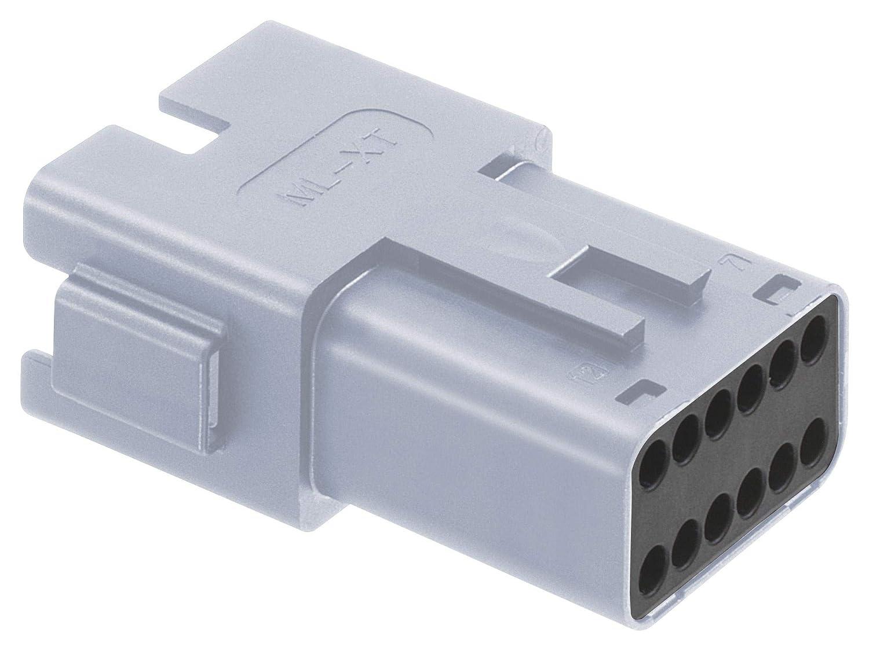 93444-6212 ML-XT 93444 Series Receptacle Deutsch 12 Positions Automotive Connector Housing TE CONNECTIVITY