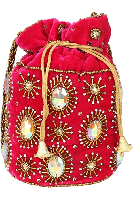 SalsaNights 10 Pcs Embroidered Jewelry Pouch Bag Coin Purses Gift Bag Zipper Pocket