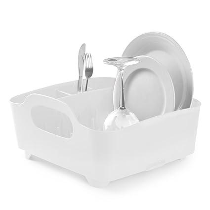 Umbra 330590-660– Escurridor de platos y vasos, 36x32,5x15,5cm, color blanco