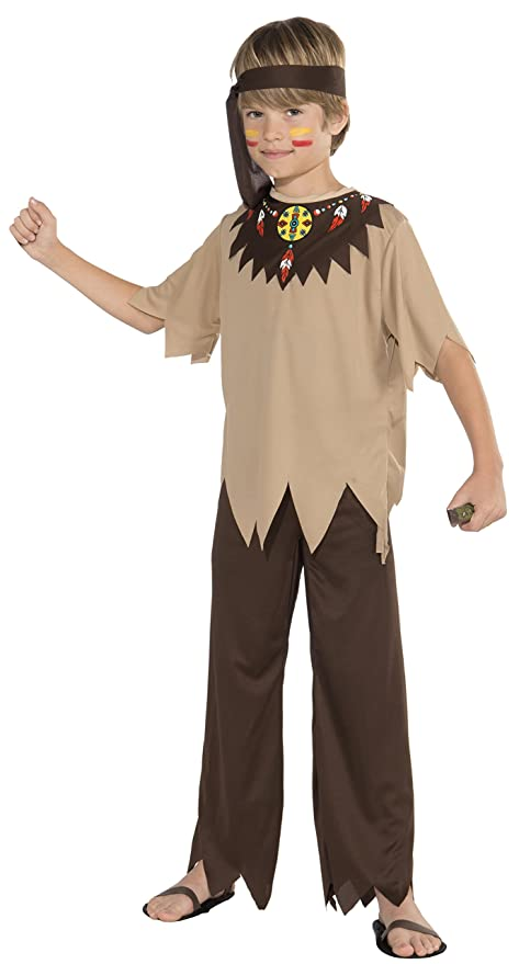 Forum Novelties Native American Brave Costume, Child Large