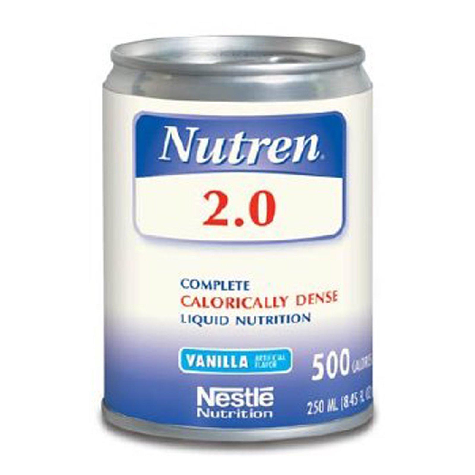 Nutren 2.0 Complete Calorically Dense Liquid Nutrition Vanilla, 24-8.45 oz, Pack of 4