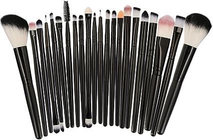 Professional 22pcs/Set Pinceles maquillaje Belleza cejas maquillaje cosmético Blusher Foundation Brush set de herramientas Kit Maquiagem MAG5489-HB: Amazon.es: Belleza