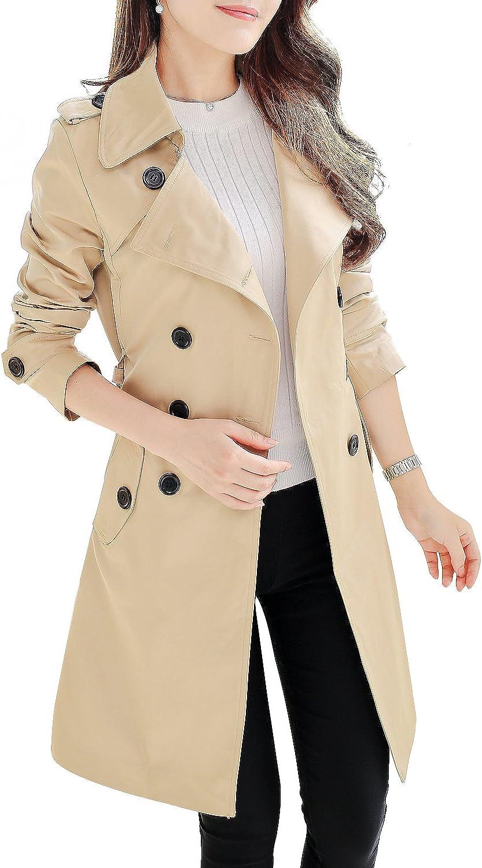 NANJUN Women's Double Breasted Trench Coat