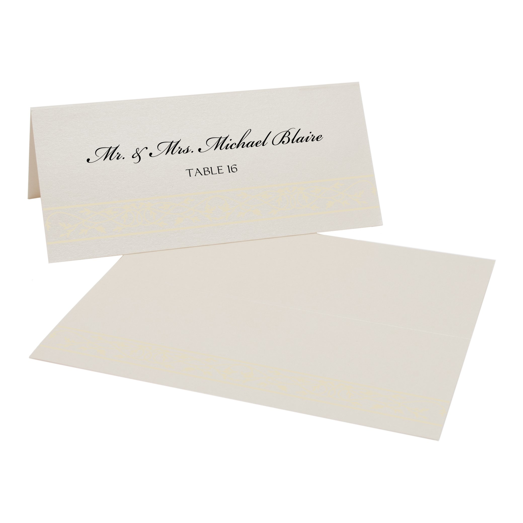 Celtic Leaf Border Place Cards, Champagne, Ivory, Set of 375 by Documents and Designs