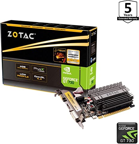 Amazon.com: ZOTAC GeForce GT730 Zone Edition Fanless ...