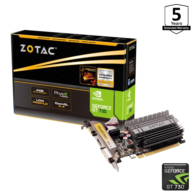 ZOTAC GeForce GT 730 Zone Edition 4GB DDR3 PCI Express 2.0 x16 (x8 lanes) Graphics Card (ZT-71115-20L) by ZOTAC