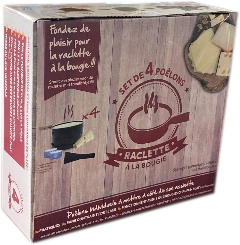 Set de 4 4 po/êlons individuels transporter partout faite fondre votre fromage rapidement Raclette /à la bougie