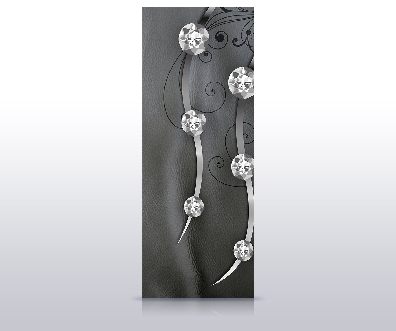 Wandbild M0525 T/ür-Aufkleber wandmotiv24 T/ürtapete Leder Diamant abstrakt 70 x 200cm B x H T/ürbild - Papier Tapete