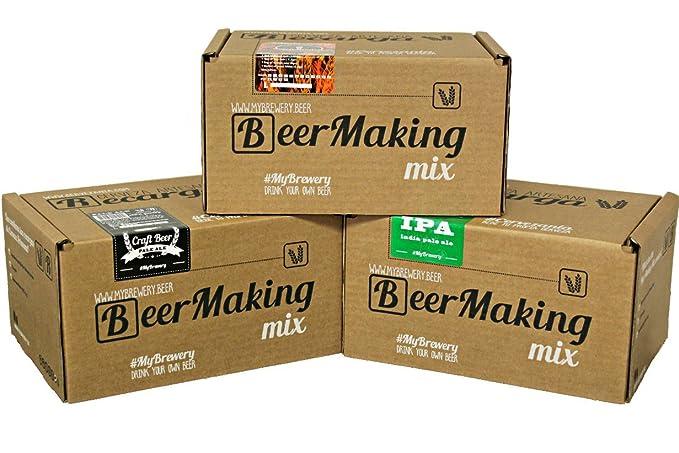 4 opinioni per 3 miscele di birra. Fermentazione birra. India Pale Ale, Weiss & Pale Ale.