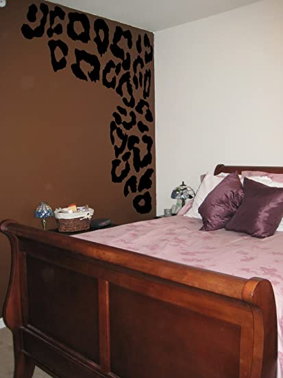 Attractive Leopard Print Spots Vinyl Wall Decal Decor