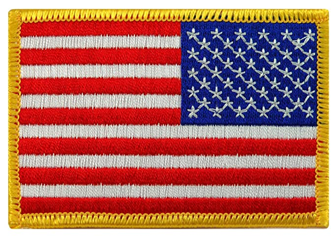 Image Unavailable. Image not available for. Color  American Flag  Embroidered Patch Reverse ... ecb9b00a9ce