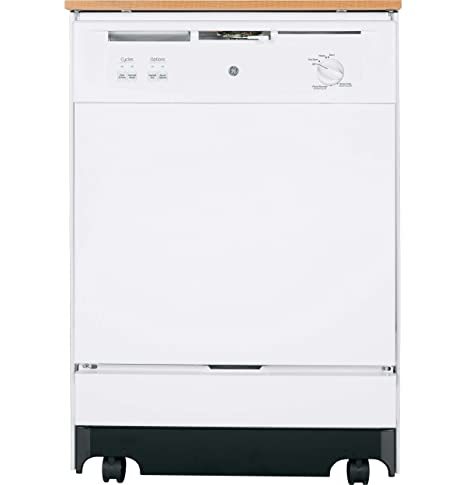 GE GSC3500DWW 24u0026quot; White Portable Full Console Dishwasher   Energy Star