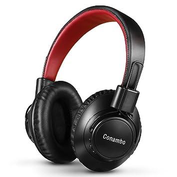 Auriculares inalámbricos con cancelación de ruido activo con micrófono, Conambo, plegables, HiFi,