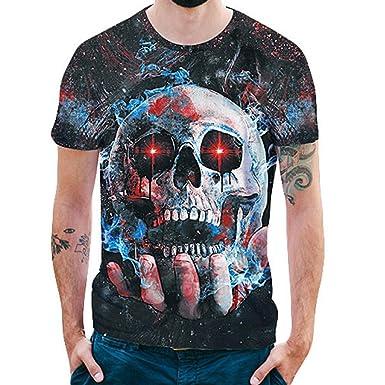 356dfb189ccd Kanpola T-Shirt Herren Slim Fit Schwarz Adler Totenkopf 3D Druck Rundhals Deutschland  T-Shirt  Amazon.de  Bekleidung