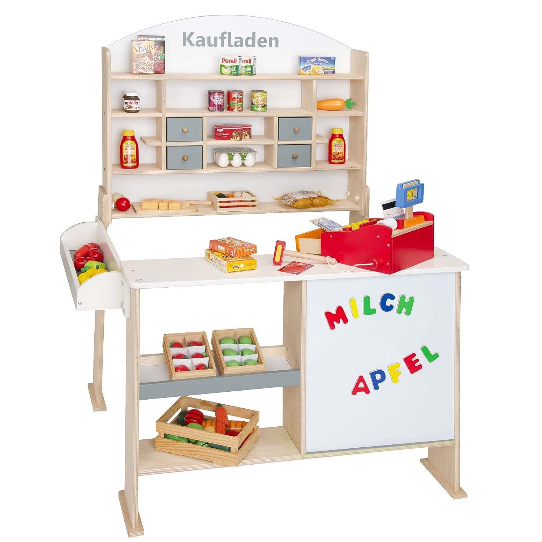 Beluga Spielwaren 30862 - Kaufladen aus Holz in Natur  Weiss