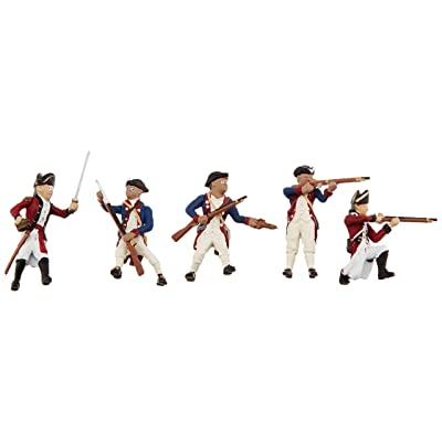 Woodland Scenics SP4454 1.5-Inch Scene Setters Figurine, Revolutionary War Soldiers, 5/Pack: Toys & Games