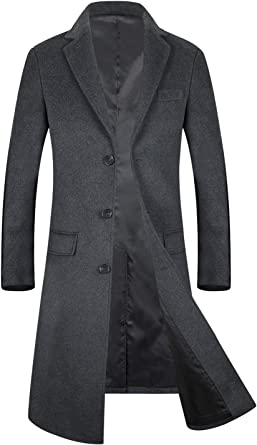 cant be satisfied Fashion Male Autumn Winter Coat Turn-Down Collar Wool Blend Men Overcoat