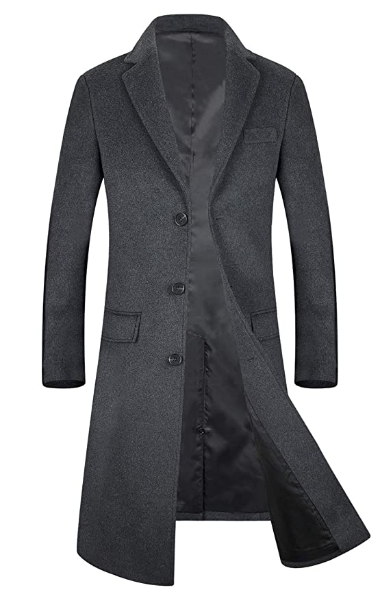Men's Vintage Style Coats and Jackets Mens Trench Coat 80% Wool Content French Long Jacket Winter Business Top Coat  AT vintagedancer.com