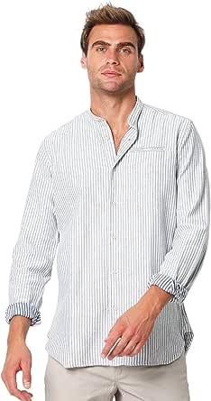 Scalpers Camisa Cuello Mao