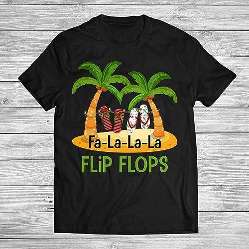 e4491fd4061232 Amazon.com  Fa La La La Flip Flops Decor Christmas Tree Funny Summer ...