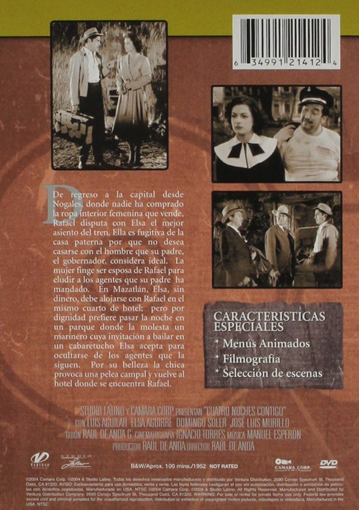 Amazon.com: Cuatro Noches Contigo: Luis Aguilar, Elsa Aguirre, Domingo Soler, Jose Luis Murillo: Movies & TV