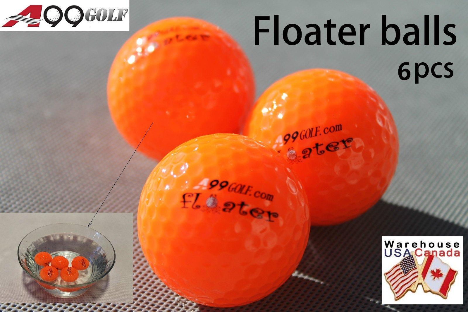 48pcs A99 Golf floater balls orange color with logo - floating balls