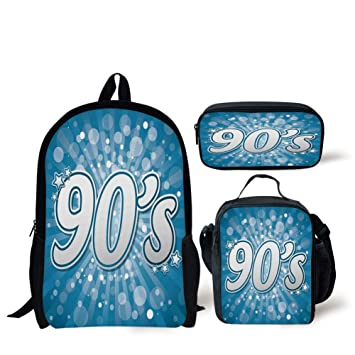 Amazoncom Iprint School Lunch Pen Bags90s90s Letter And Stars On
