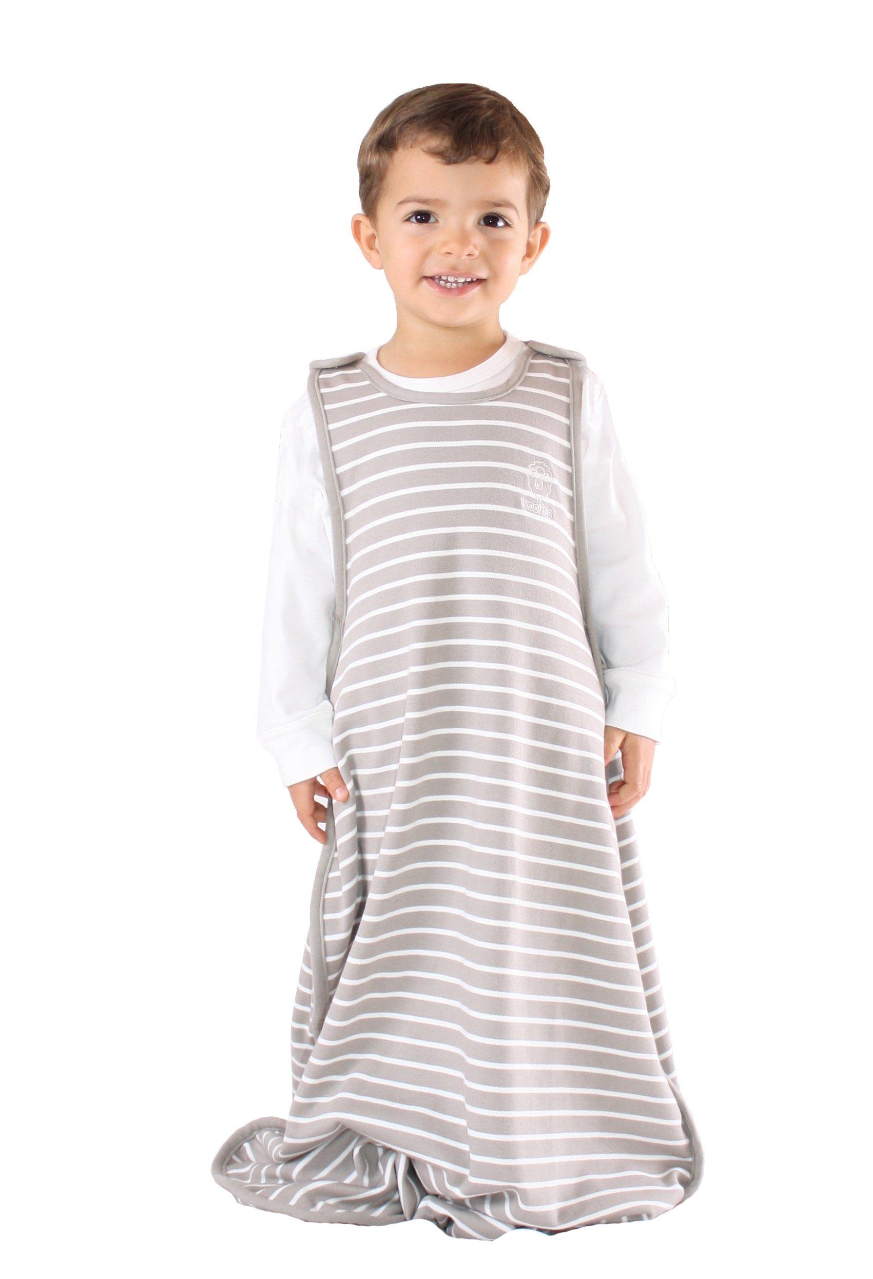 Woolino Toddler Sleeping Bag, 4 Season Merino Wool Baby Sleep Bag or Sack, 2-4 Years, Earth by Woolino