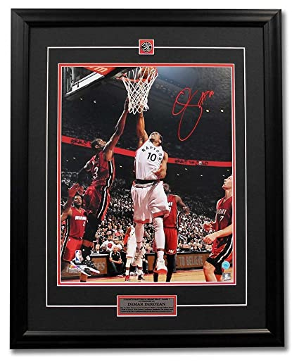 DeMar DeRozan Toronto Raptors Autographed Signature Game 7 Playoff Win vs  Heat 31x25 Frame - COA f97a45084