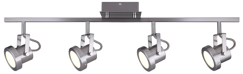 CANARM LTD. IT356A02BPT10 James 電球2個用 トラック照明 4 Light - LED B01N9XKVI5 4 Light - LED|つや消しニッケル つや消しニッケル 4 Light - LED