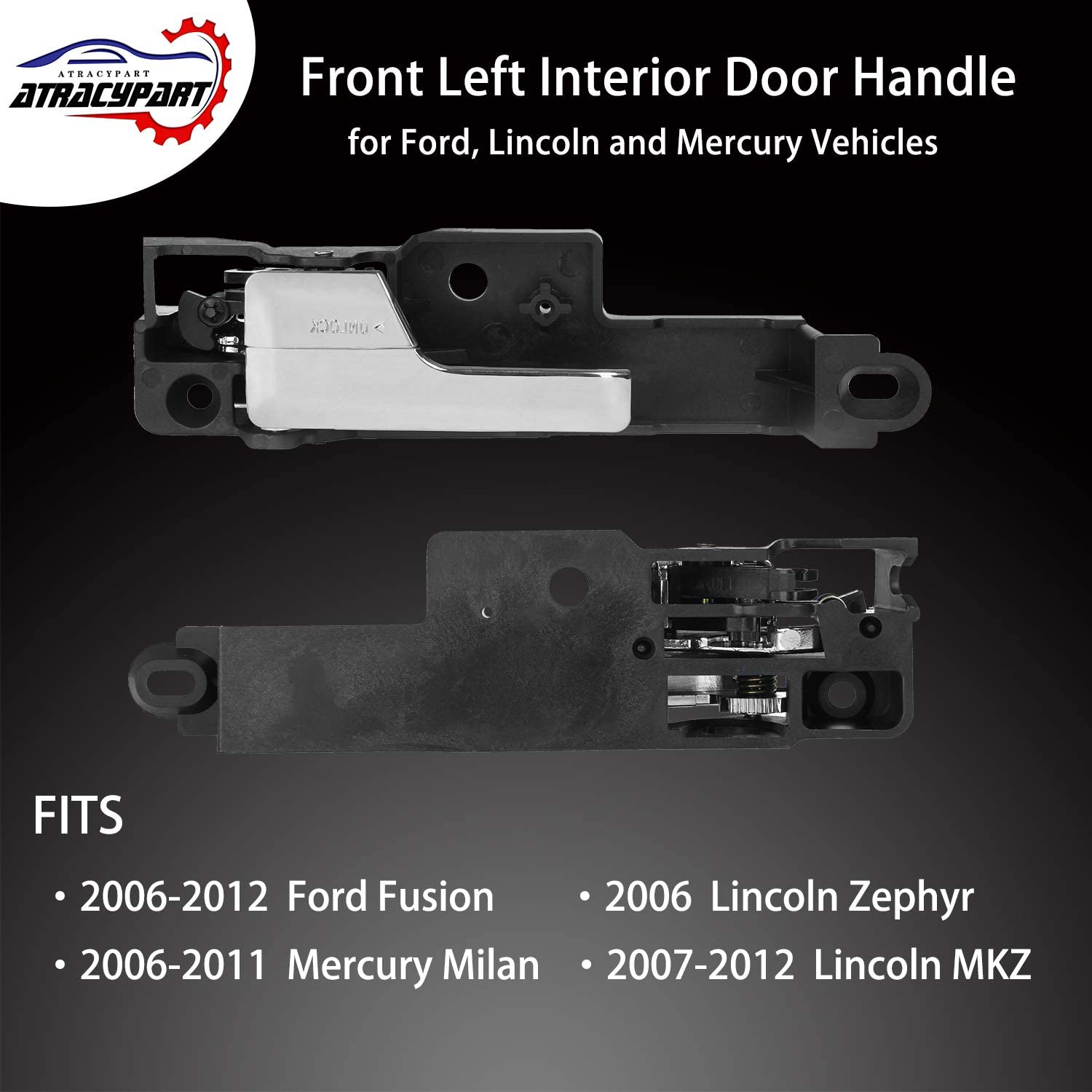 T1A-6E5Z-5422600-AA T1A 2006-2012 Ford Fusion Interior Door Handle Replacement Fits Front Right Passengers Side Metal Upgraded Also Fits Lincoln Zephyr and Mercury Milan