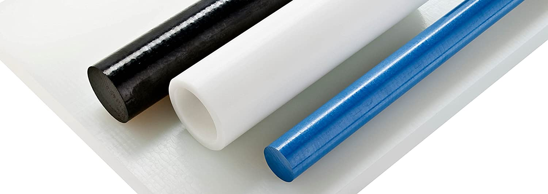 HDPE High Density Polyethylene Round Rod Translucent White 12mm Diameter x 300mm Long Grade A PE 500