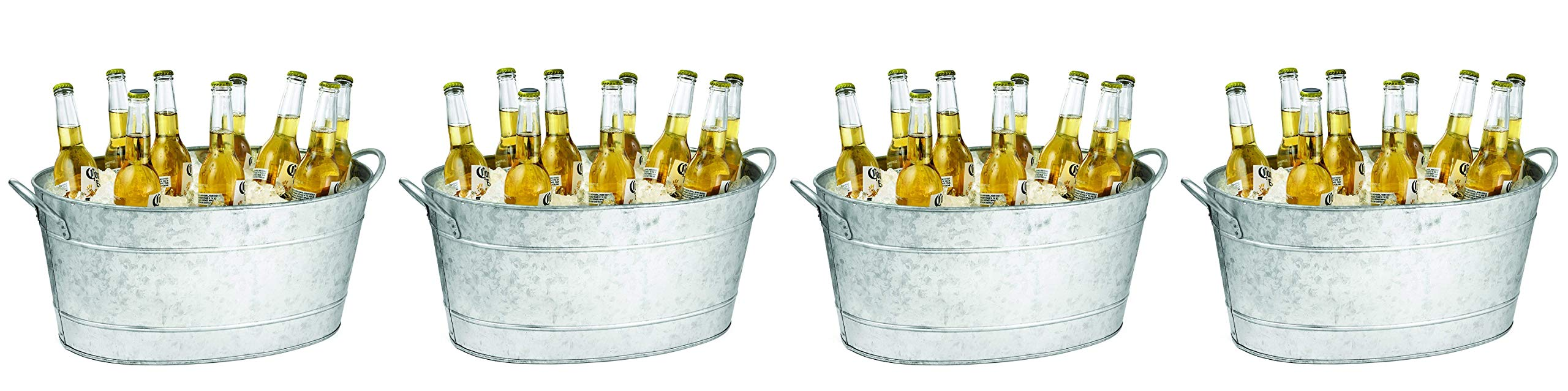 Tablecraft IR 4033 Wine Cooler, Bucket 23 x 14.5 x 9.5 Silver (Pack of 4)
