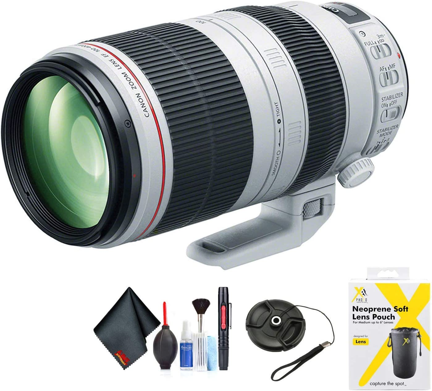 Canon EF 100-400mm f/4.5-5.6L is II USM Lens for Canon EF Mount + Accessories (International Model with 2 Year Warranty)