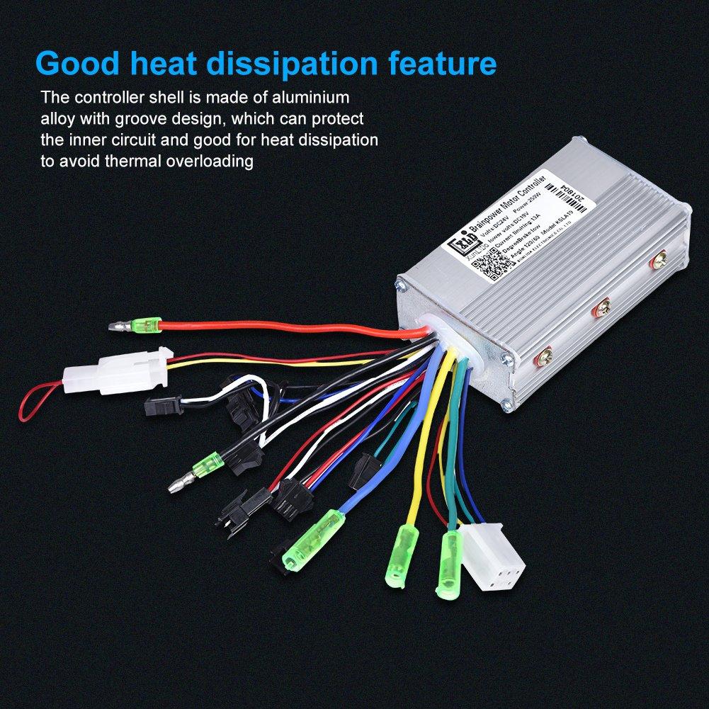 Dilwe Bürstenloser Controller 24V 250W Motor Controller Aluminium on