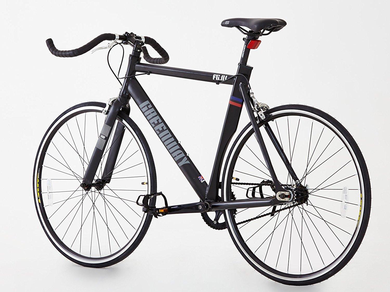 Aluminio Sola Velocidad Fixie Fixed Gear Bike- Bike- rueda Flip Flop: Amazon.es: Deportes y aire libre