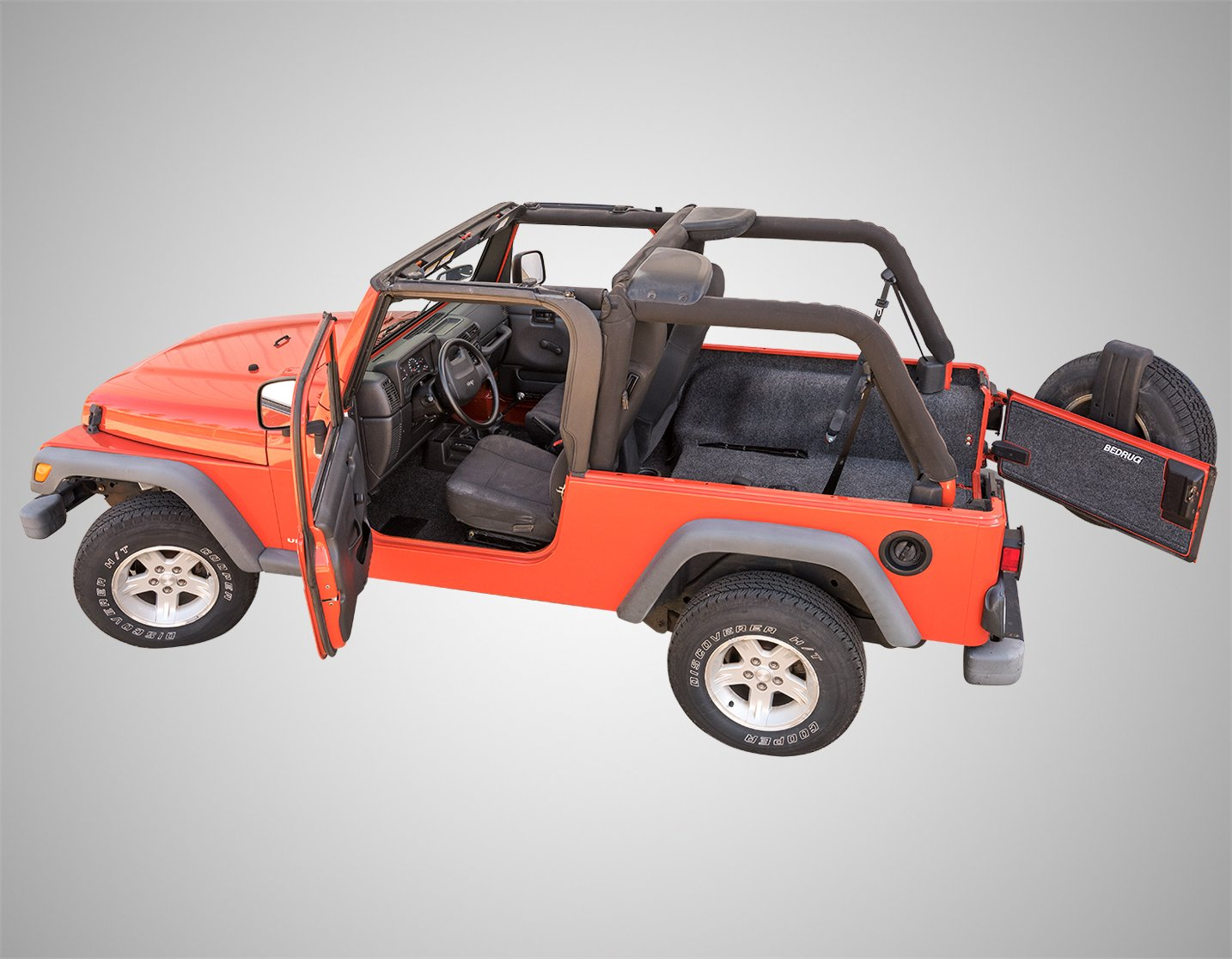 Includes Front and Cargo Kit w// console BedRug Jeep Combo Kit BedRug CBRLJ04 fits 2004-06 LJ