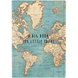 A Big Notebook For Little Ideas Vintage Map A5 World Atlas
